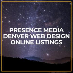 Presence Media Denver Web Design Online Listings featured image